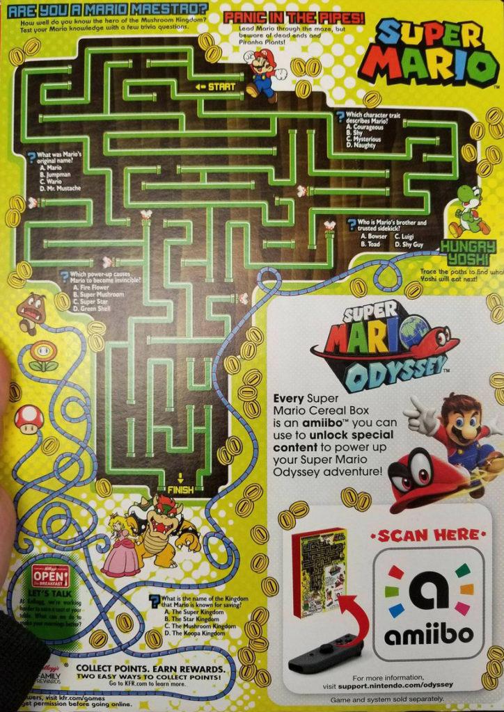 Retro cereali Kellogg's Super Mario