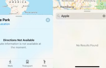 apple maps down