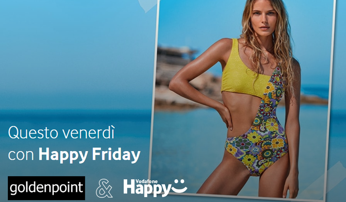 Sconto Goldenpoint e Spizzico con Vodafone Happy Friday