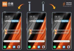 Render dello smartphone Xiaomi con TWS integrate