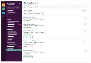 Interfaccia grafica di Slack
