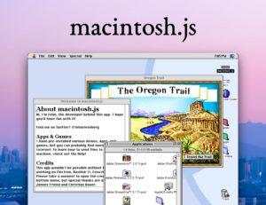 Schermata di macintosh.js con MacOs 8