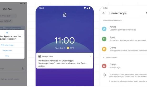 Nuova gestione dei permessi in Android 11