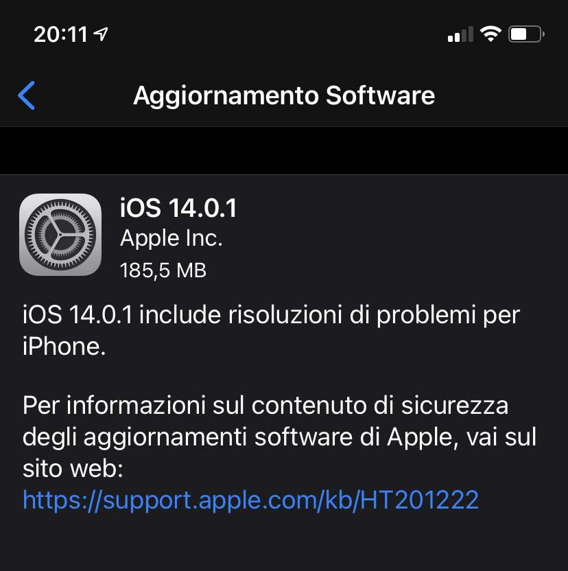 iOS 14.01