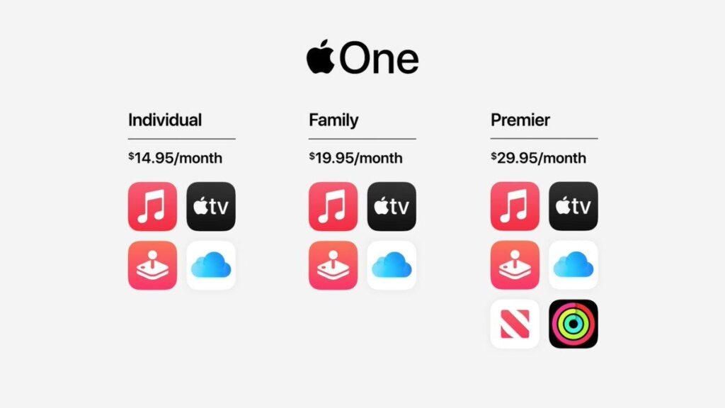 Prezzi di Apple One