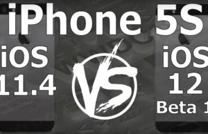 iOS 12 Speed Test