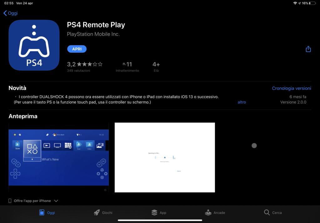Collegare ps4 su iPad e iphone