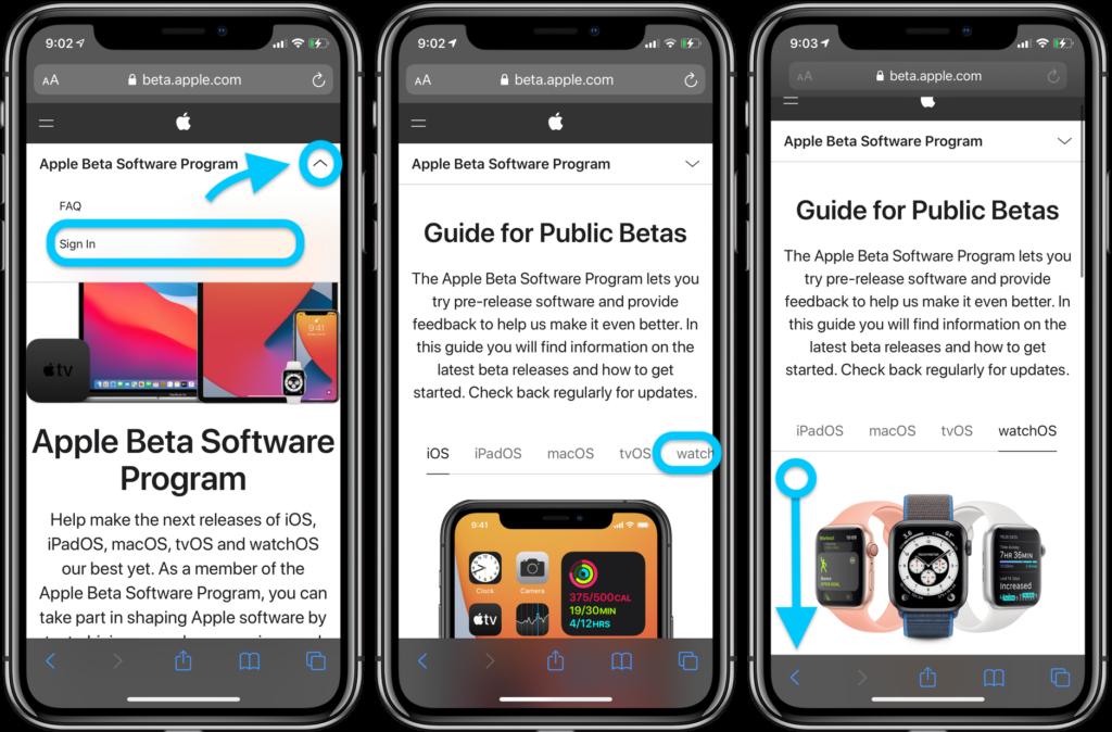 watchOS 7 beta pubblica